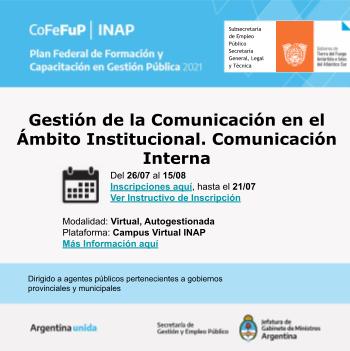 Gestión de la Comunicación en el Ámbito Institucional. Comunicación Interna